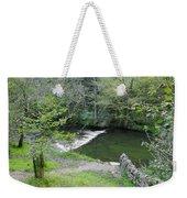 Weir Below Lover's Leap - Dovedale Weekender Tote Bag
