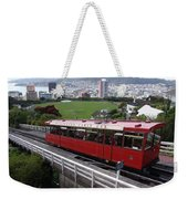 Tram Car Viewpoint - Wellington, New Zealand Weekender Tote Bag