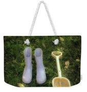 Wellingtons And Shovel Weekender Tote Bag by Joana Kruse