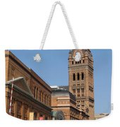 Wells Street Theater District And City Hall Weekender Tote Bag