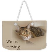 We're Moving Notification Greeting Card - Lily The Cat Weekender Tote Bag