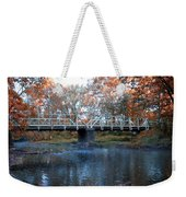 West Valley Green Road Bridge Along The Wissahickon Creek Weekender Tote Bag by Bill Cannon