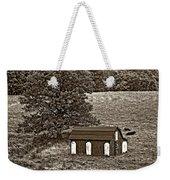 West Virginia Sepia Weekender Tote Bag