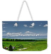 Westerly View Of The Bridger Mountains Weekender Tote Bag