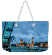 Westminster And The London Eye Weekender Tote Bag
