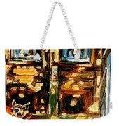 Westmount Porch In Early Autumn Montreal City Scene  Weekender Tote Bag