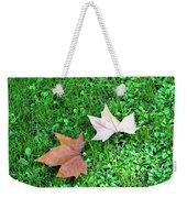 Wet Leaves On Grass Weekender Tote Bag