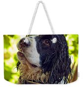 Wet Puppy Weekender Tote Bag