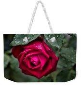 Wet Weather Rose Weekender Tote Bag