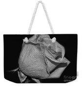 Wet White Rose Weekender Tote Bag