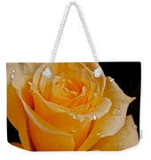 Wet Yellow Rose Weekender Tote Bag