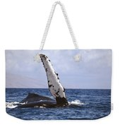 Whale Fin Above Water Weekender Tote Bag
