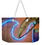 Whale Into Blue Wave Weekender Tote Bag
