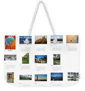 What A Wonderful World Calendar 2012 Weekender Tote Bag by Juergen Weiss