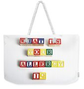 What Is Your Allergy Iq Weekender Tote Bag