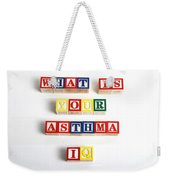 What Is Your Asthma Iq Weekender Tote Bag