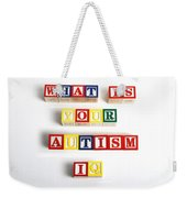 What Is Your Autism Iq Weekender Tote Bag