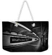 What's Your Story Weekender Tote Bag
