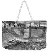 Where Does The Story End Monochrome Weekender Tote Bag