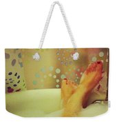 Where I Relax Weekender Tote Bag by Katie Cupcakes