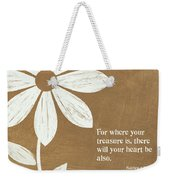 Where Your Heart Is Weekender Tote Bag
