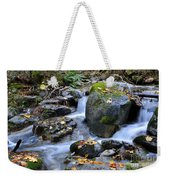 Whisketown Stream In Autumn Weekender Tote Bag