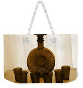 Whiskey Decanter In Sepia Weekender Tote Bag