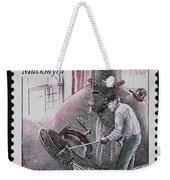 Whisky Postage Stamp Print Weekender Tote Bag