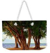 Whispering Trees Of Sanibel Weekender Tote Bag by Karen Wiles