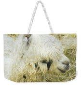 White Alpaca Photograph Weekender Tote Bag