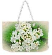 White And Cream Hydrangea Blossoms Weekender Tote Bag