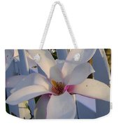 White And Pink Magnolia Weekender Tote Bag