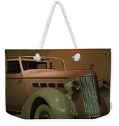 White Antique Automobile Weekender Tote Bag