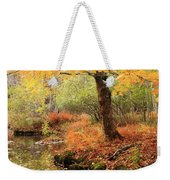 White Ash And Stream In Autumn Weekender Tote Bag