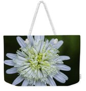 White Aster Weekender Tote Bag