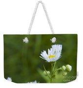 White Aster Wildflower Weekender Tote Bag