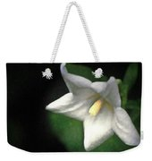 White Balloon Flower-faux Painting Weekender Tote Bag