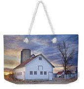 White Barn Sunrise Weekender Tote Bag