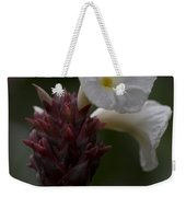 White Bromeliad Flowers Weekender Tote Bag