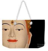 White Buddha Face Weekender Tote Bag