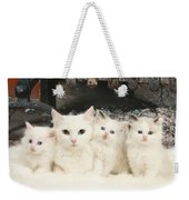 White Cats Weekender Tote Bag