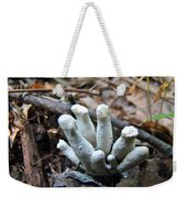 White Club Mushroom - Clavulina  Weekender Tote Bag