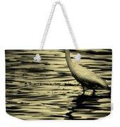 White Crane Weekender Tote Bag