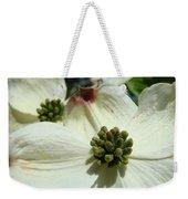 White Dogwood Flowers Art Prints Floral Weekender Tote Bag