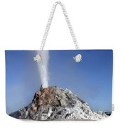 White Dome Geyser Erupting, Upper Weekender Tote Bag