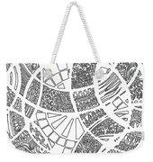 White Doodle Circles Weekender Tote Bag