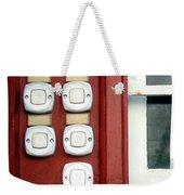 White Doorbells Weekender Tote Bag