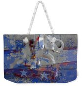 White Elephant Ride Abstract Weekender Tote Bag