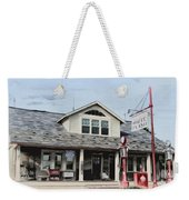 White Flash Gasoline Weekender Tote Bag