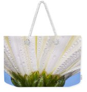 White Flower Head With Dew Weekender Tote Bag